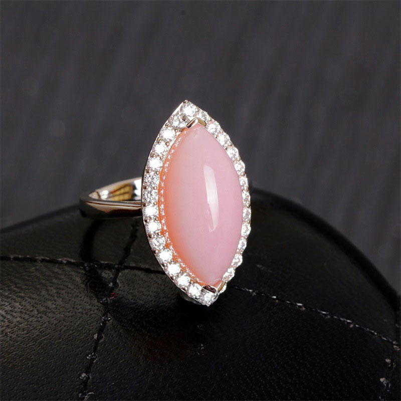 RADHORSE 925 Silver Rings  for Women Fine Jewelry 100% Genuine Opal Natural gem Luxury style Adjustable ring