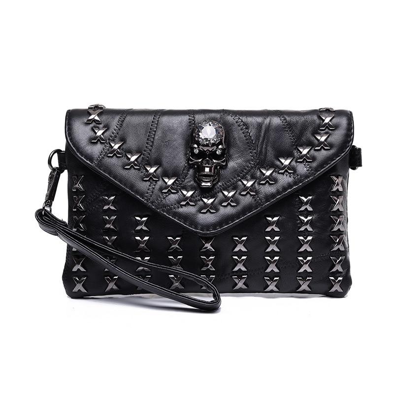 Fashion PU Leather Women Messenger Bags Tote Purse Handbag Rivet Skull Bag Crossbody Bolsas Femininas Clutch Bags Dollar Price<br><br>Aliexpress