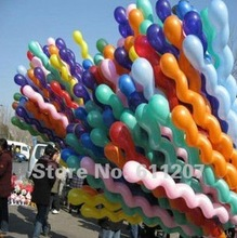 Hot sale 50pcs/lot 2.5G latex GIANT SPIRAL/SCREW BALLOONS for Birthday Wedding Party HUGE balls toys 120cm