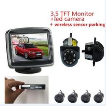 2.4 GHz Wireless Car Video Camera Monitor Parking Assistance Radar Car Monitors+Rearview Camera+wireless parking Sensor