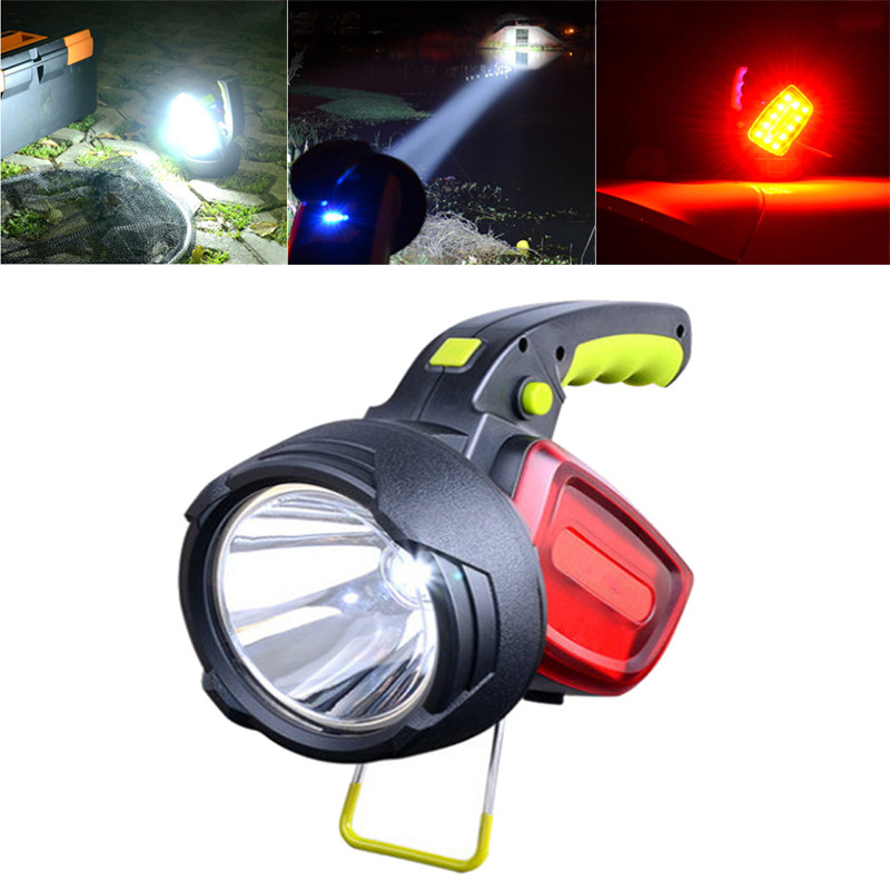 300LM LED Intelligent Bright 18650 Led Flashlight Red/White Light USB Rechargeable Outdoor Warning Camping Lamp Searchlight<br>