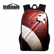 Dispalang American Footbally Backpack for Teen boys Cool Lightweight Bookbags Patterns Soccery Bagpack Primary Student Rucksacks