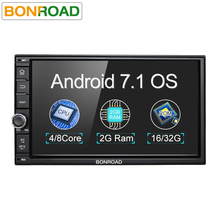 "Bonroad 7""2Din Android 7.1 Car Multimedia Video Play Tap PC Tablet For Nissan GPS Navigation Radio Stereo Video Player(No DVD)(China)"