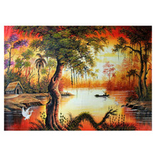 5d diamond mosaic beadwork embroidery kit picture diamond pattern river views fairy design diamond bead y273(China)