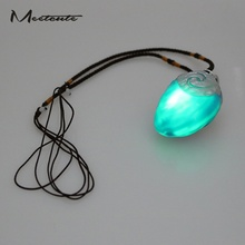 Meetcute New Anime Movie Moana Princess Necklace Music And Led Light Vaiana Pendant Necklaces For Kids Xmas Gifts Toothless(China)