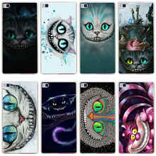 337GH the Cheshire Cat Hard Transparent Cover for Huawei P7 P8 P8 P9 Lite Honor 4C 5C 6 7 8 Nova
