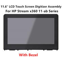 LCDOLED 11.6'' LCD Touch Screen Digitizer+Bezel Laptop Assembly For HP Stream x360 11-ab Serie 11-ab004ng 11-ab009TU 11-ab014TU(China)