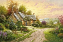 puzzle by Thomas Kinkade oil painting poster fabric canvas wall poster print