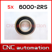 5pcs hub shaft 440 stainless steel hybrid ceramic ball bearings 6000 S6000 2RS 10*26*8mm Si3N4 bike part