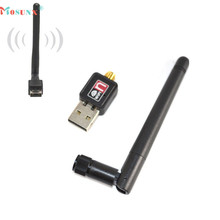 Ecosin2 Mosunx 2017 Mini 150Mbps USB WiFi Wireless Adapter LAN Card 802.11n/g/b + 2dbi Antenna Black 17Mar15