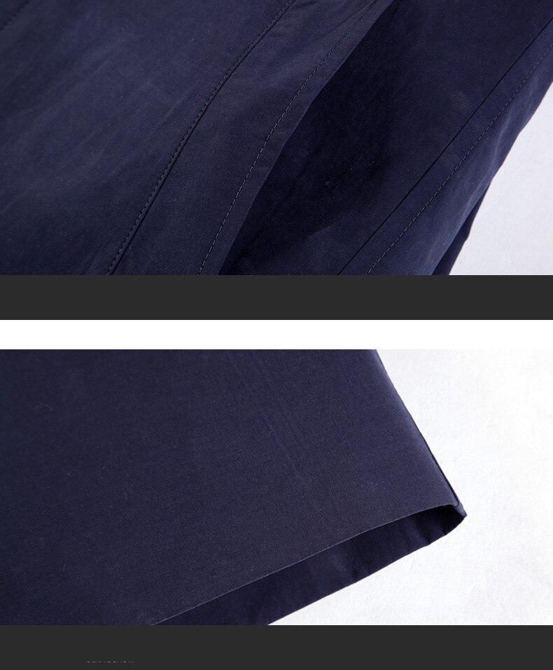 2018 New Spring Mens Casual Trench Coat Khaki blue Longline Thin Windbreaker Coats  (13)