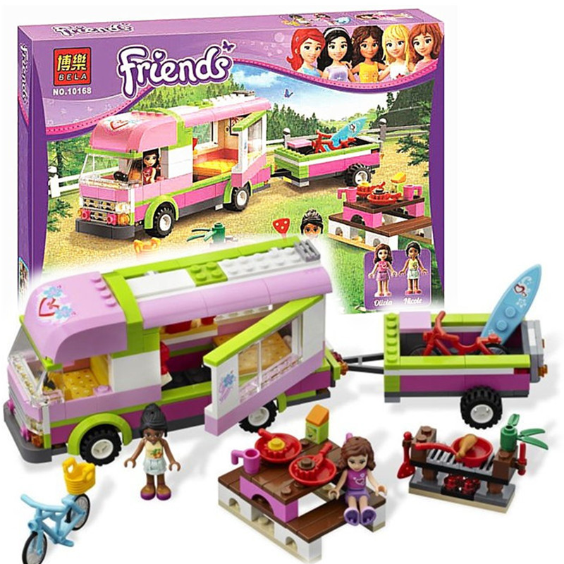 Bela 10168 Friends Adventure Camper Trailer Building Block set Olivia Nicole figures Girls Toy 3184 Compatible with Lepin<br><br>Aliexpress