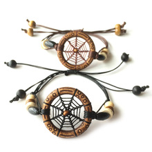 Dream Catcher Bracelet Handmade European Native American Free Style Handmade Bracelets Free Shipping(China)