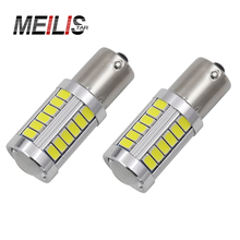 2X P21W LED 1156 382 BA15S 33 SMD 5630 High Power Steering Light Signal Lamp TAIL REVERSE Parking Light Red White Yellow 2X
