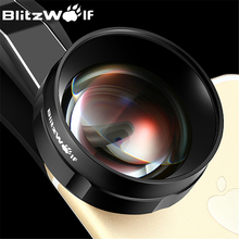 BlitzWolf Fish Eye Mobile Phone Camera Lens Optical 3X HD Telephoto Lens Fisheye With Hood Clip Universal For iPhone For Samsung(China)