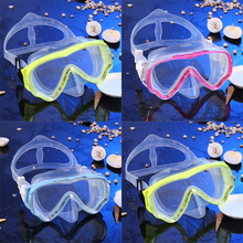 Children Plain Diving Mask with Breathing Tube Swimming Snorkeling Equipment free shipping