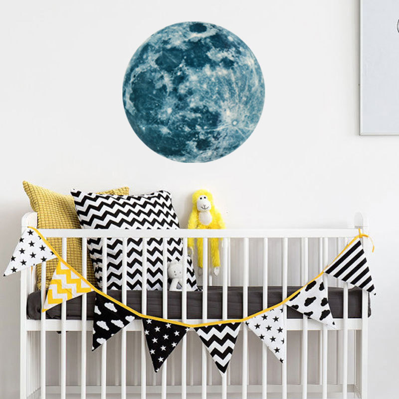 HTB18sWASpXXXXbDXpXXq6xXFXXXw - Super Luminous moon wallpaper luminous wall stickers luminous waterproof stickers children bedroom bedroom decoration mural