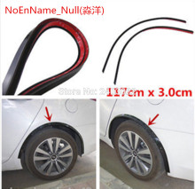 Car Fender 2pc117cm Flare Wheel Eyebrow Protector Lip Wheel-arch Trim for Mitsubishi Lancer 10 9 x EX ASX GT(China)