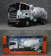 Brand New Very Cool Swden Scania Cement Mixer Truck 1/43 Scale Diecast Metal Car Model Toy For Gift Children