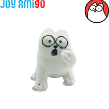 Simon's Cat Stuffed Animal Plush Toy With Surprise Face/ White Simon Cat Kitty-20cm/8inch Cartoon Youtube Figure(China)