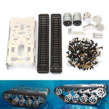 DIY T300 Metal Tracked Crawler Smart Robot Car Robotic Chassis Platform Track Tank Kit For Arduino(China)