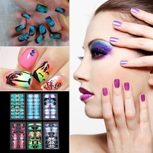 New Fashion Mixed 6 Styles Scenery Landscape Full Cover Self Adhesive Nail Art Stickers Quality