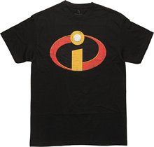 Fifth Sun Men's The Incredibles Distressed Logo Graphic T-Shirt(China)