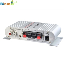 Binmer Mini Hi-Fi Amplifier Audio Stereo Amplifiers 12V 20W X2 RMS for Home Car Superior Quality Amp Apr29
