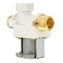 1/2 inch Thread Solar Water Heater Solenoid Valve Pressure DC12V 4 Minute Thread Mouth White Plastic Heater Part