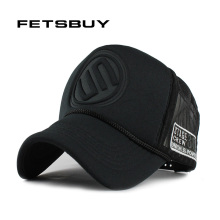 FETSBUY Summer Male And Female Trucker Hats Fitted Casual Hip-hop Street Mesh Hat Casquette Cap Unisex Print Baseball Caps(China)