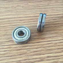 Outer ring V grooved straightener guide wheel bearings A1002ZZ V6200ZZ V90 10*35*9 mm pulley bearings V groove width 4.2 mm(China)