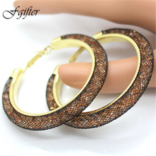 Charming Hoop Ear Rings 60mm Cheap Large Earrings for Women Earrings Jewelry 18 Colors(China)