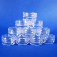 500 Bulk Bottle Cap Screw Off Container Mini Jar Clear Plastic Sample Case 3g (AY170)(Taiwan)
