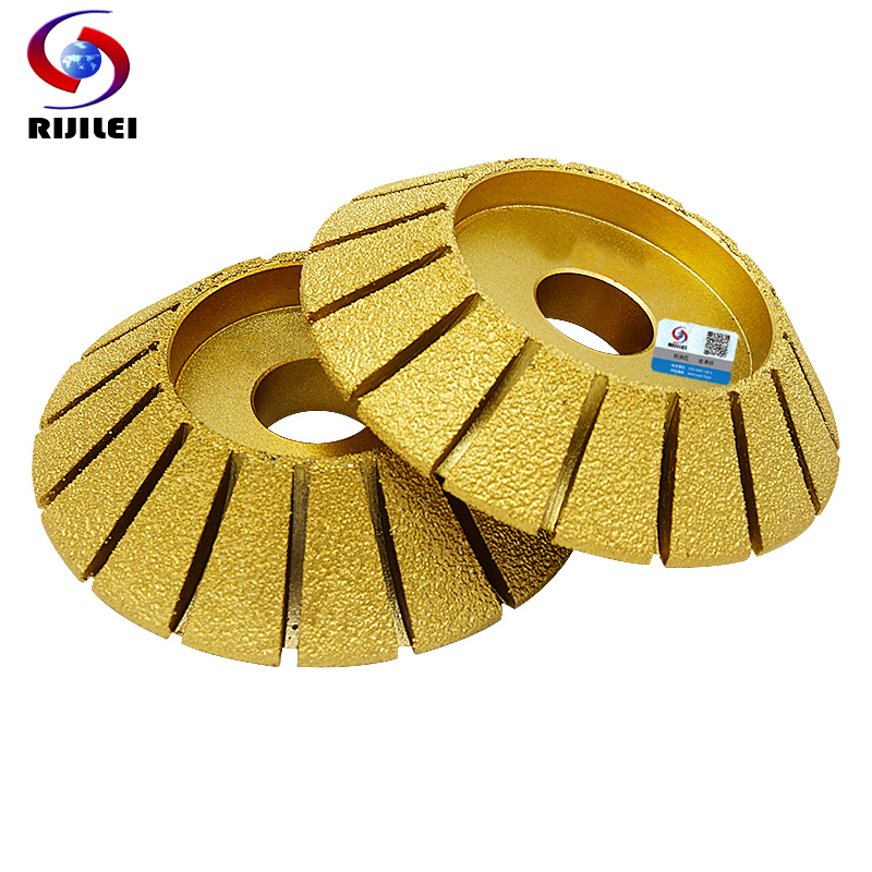 RIJILEI 140*30*35 Marble abrasive Disc 45 degree Single bevel brazed diamond grinding head diamond profile wheel electrical MX41<br>