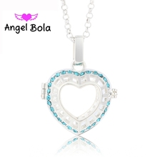 22.5mm Lucky Heart Pattern Perfume Cage Necklace Engelsrufer Pendant Sound Angel Ball Pryme  Bola Yiwu Jewelry L058 Mom Gift
