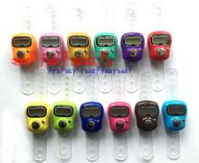 by dhl or ems 200 pcs Top Quality Stitch Marker And Row Finger Counter LCD Electronic Digital Tally Counter Stock Offer