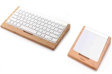 2016 Arrival Original Bamboo Bluetooth Keyboard Touchpad Tablets Dock Holder Stand for Apple Magic Trackpad to Wireless Keyboard