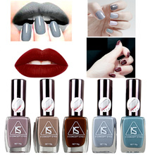 2016 New Grey Paradise Seires Nail Polish 12 Colors 15ml Matte Nail Varnish Retro Special Liquid Nail Pigment Polish