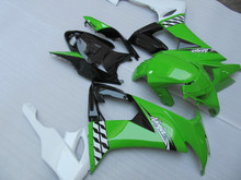 Motorcycle Fairing Kit for KAWASAKI Ninja ZX10R 08 09 ZX 10R 2008 2009 zx 10r TOP White green black Fairings set+7gifts KT04