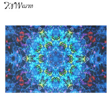 Kiwarm 24x36'' Blue Abstract Silk Cloth Poster Art Fabric Painting For Living Room Home Decor Decorative Cloth Gift 60x90cm