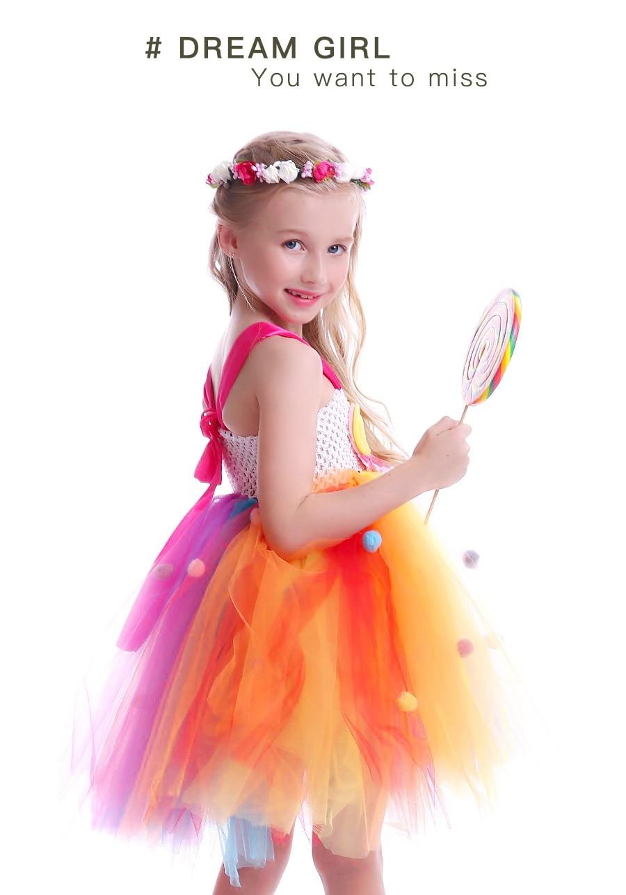 Lollipop Candy Girls Tutu Dress Kids Rainbow Birthday Party Dress Children Sweet Candy Land Outfit Girls Dance Recital Gown (17)