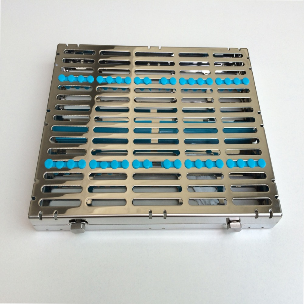 1PC Dental Instrument Disinfection Cassette Stainless Steel Box Suitalble For 10 Inst Disinfection<br>