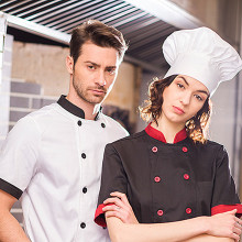 (5 get 10% off,10 get apron)Classy man/woman head chef wear uniform clothes wine red/blank short/long sleeve kitchen coverall
