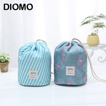 DIOMO 2018 Barrel-shaped Unique Drawstring Makeup Bag Organizer Cosmetic Bag  Ladies Make Up Bags dd7d3c027d3f2