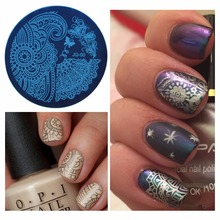 WUF 1 Pc Optional Flower Various Pattern Nail Art Image Stamp Stamping Plates Nails Templates DIY Plate