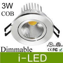 Newest 3w cob led downlight dimmable AC85-265v 12V led recessed spot light lamp warm white 120 angle 3 years warranty UL CE
