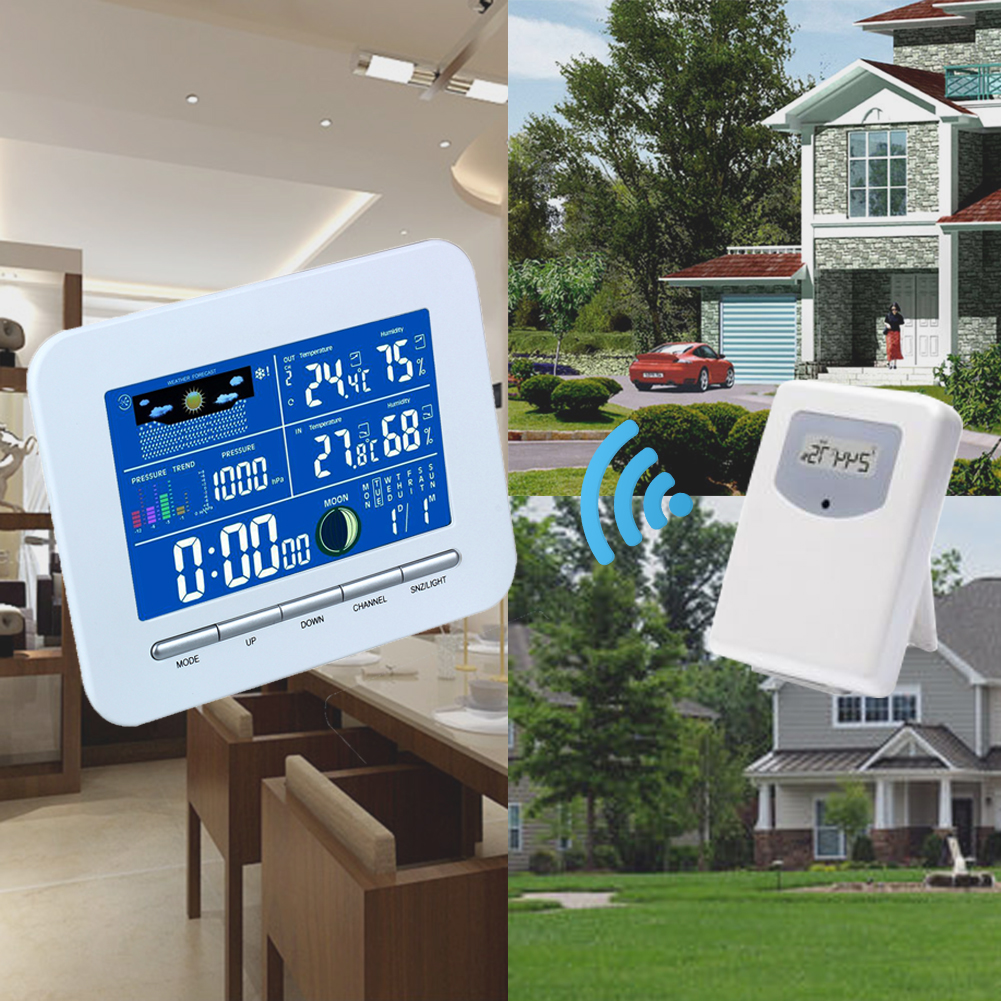 Digital LCD Display Wireless Electronic Temperature Humidity Meter Weather Station Indoor Outdoor Thermometer Humidity<br>