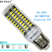 Patent LED lamp AC90-260V 5736SMD 7W 80led Aluminum PCB led light E27 E14 G9 GU10 B22 5730 chandelier No flicker LED bulb