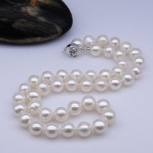 9-10MM Round Shape Natural Freshwater Pearl Necklace Fashion Jewelry Nice Jewellery Accessory, 30pcs/lot+Free Shipping