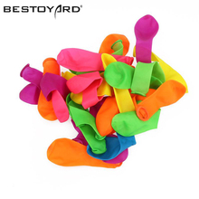 BESTOYARD 500pcs Assorted Bright Color Latex Water Balloons Rapid Injection Summer Game Toy (Random Color)(China)